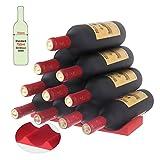 """Fridge Monkey Bottle 11.6"""" Konsait Wine Stacker Fridge Rack,Stack up to 10 Full Size Bottles for Beer Organizer for Refrigerator Bottle"""