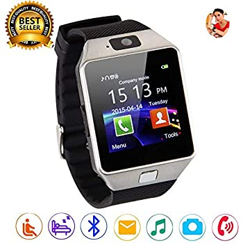 ... Fitness Tracker Touchscreen Sport Smart Wrist Watch Support SIM TF Card Activity Tracker with Camera Pedometer for Android iOS Samsung Smartphones DZ09