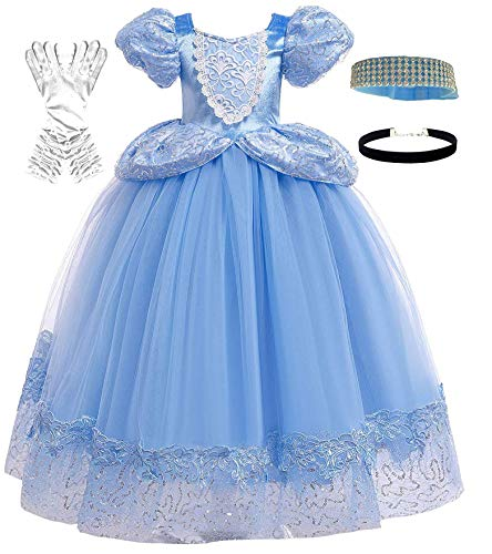 Romy's Collection Princess Cinderella Dress (3-4, Blue)