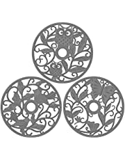 ME.FAN Silicone Trivet [3 Set] Trivet Mat - Fly Animals Hot Pads for Pots & Hot Dish - Insulated Flexible Durable Non Slip Large Coasters
