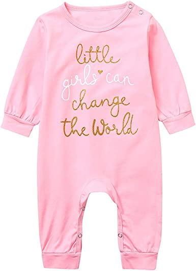 US Newborn Kids Baby Girl Long Sleeve Lace Romper Jumpsuit Overall Clothes 0-24M
