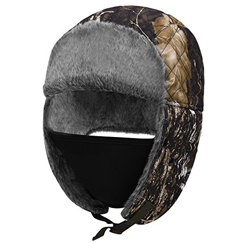 Vbiger Winter Warm Bomber Hats Trooper Trapper Hat Hunting Hat Eskimo Hat Earmuffs Cap with Windproof Mask