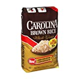 Carolina Natural Long Grain Brown Rice 2 lbs (Pack of 12)