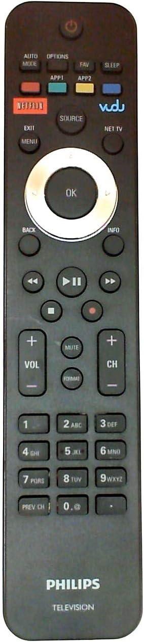 Tekswamp TV Remote Control for Philips 47PFL6704D//F7
