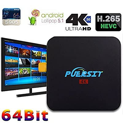 Puersit Q2 Pro Android 5.1 WiFi TV Box con 16.0 Quad Core 1 GB/8GB 4K from PUERSIT