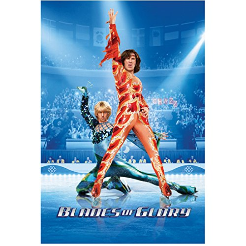 Blades of Glory Jon Heder as Jimmy MacElroy and Will Ferrell as Chazz Michael Michaels in fire and ice costumes promo with title 8 x 10 Inch Photo ()