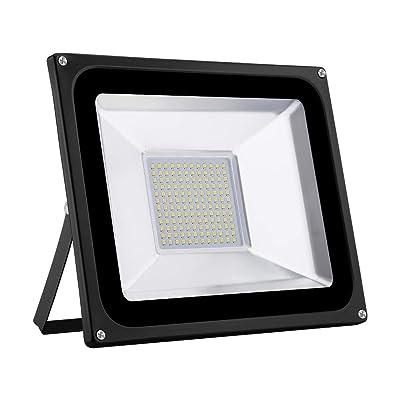 Catinbow 100W LED Outdoor Flood Spot Light, 10000LM Warm White 3000K IP65 Waterproof Outdoor Spotlight Work Flood Lights, Security Light for Patio, Deck, Yard, Garden