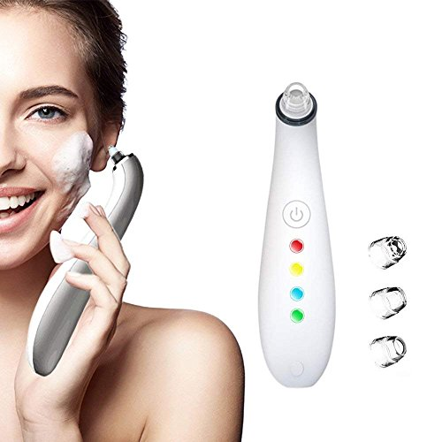 Electric Blackhead Remover, Vacuum Comedo Suction Machine USB Rechargeable Facial Pore Cleaner Nose Skin Peeling Machine, Comedo Extractor with 4 Suction Force & Probes For Sale