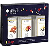 Lampe Berger Fragrance Trio Pack Warm , New Orleans-Orange Cinnamon-Vanilla Gourmet, 3 x 180ml / 6.08 fl.oz.