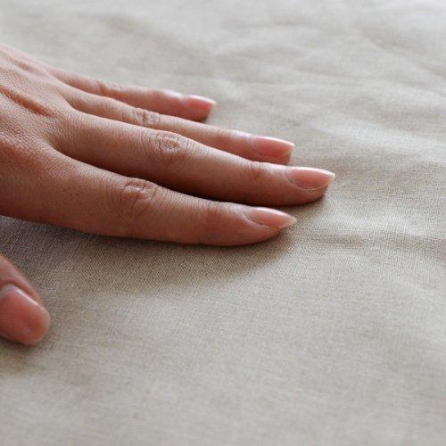ベッドシーツの手触り