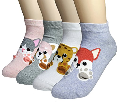 JJMax Women's Sweet Animal Socks Set with Thick Eared Cuffs One Size Fits All (Sweet Paws)