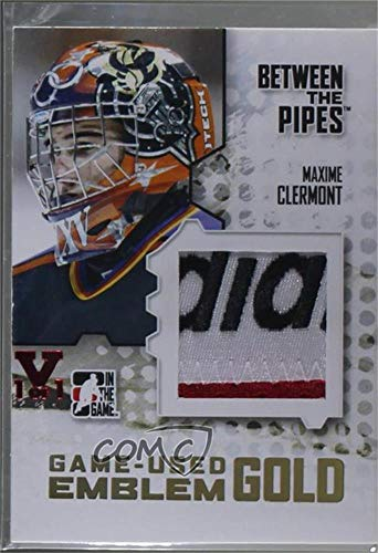 Maxime Clermont #1/1 (Hockey Card) 2009-10 In the Game Between the Pipes - Game Used Material - Emblem Gold Vault Ruby #M-05
