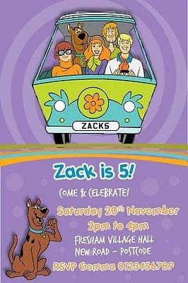 Personalised Scooby Doo Birthday Party Invitations x10 Amazoncouk