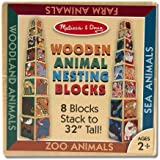 Melissa & Doug Wooden Animal Nesting Blocks