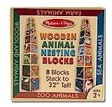 Melissa & Doug Wooden Animal Nesting Blocks - 8 Blocks Stack to Almost 3 Feet Tall