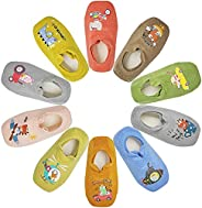 Toddler Anti Slip Non Skid?No Show Socks Low Cut With Grips for Kids Boys Girls 10 Pairs