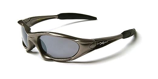 X-Loop Lunettes de Soleil - Sport - Cyclisme - Ski - Conduite - Moto/Mod. 3550 Gris Clair/Taille Unique Adulte/Protection 100% UV400 3dOu3CXUQs