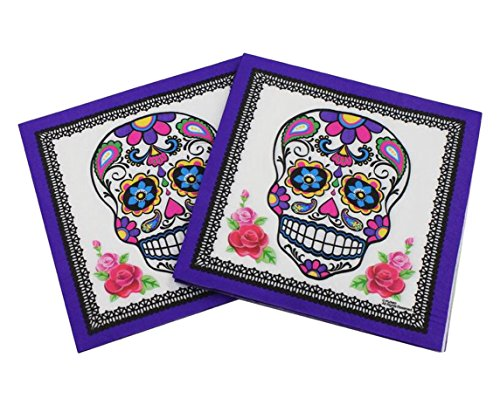 02 Flower - 40 Count Paper Napkins, Designed Pirate Prints Cocktail Napkins, Serviettes Napkins for Weeding, Dinner and Party, Paper Luncheon Napkins 2-Ply, 13x13 Inch, (Pirate, 02)