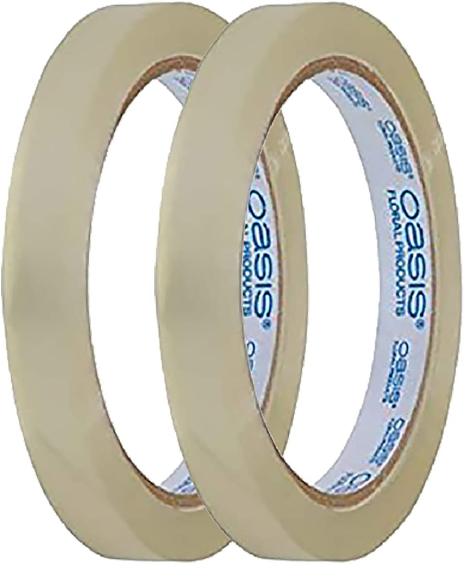 Oasis 1//4 Wide Clear Tape Floral Design Tape with Flower Design Crafting eBook 3 Rolls, 1//4 Inch