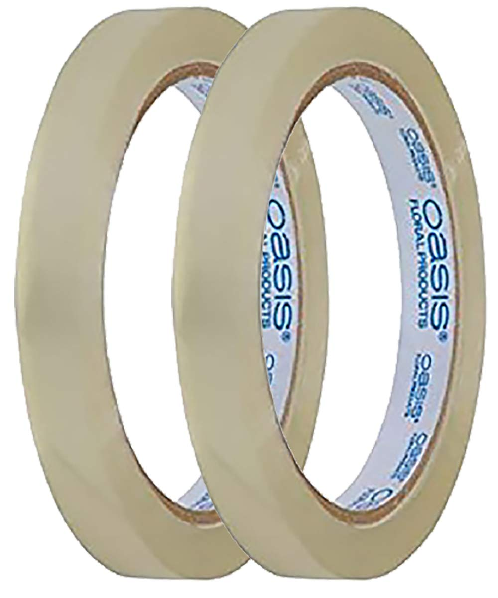 2 Rolls 1/2'' Oasis Clear Flower Tape 180 ft Water Resistant w/Floral Craft Supply eGuide