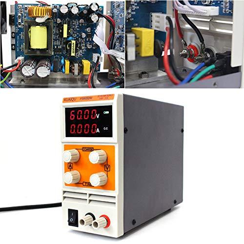 Color: PS605D Utini EU Plug DC Regulated Power Supply PS605D//PS605DM 0-60V 0-5A Mini DC Power Supply Digital Variable Adjustable Power Supply
