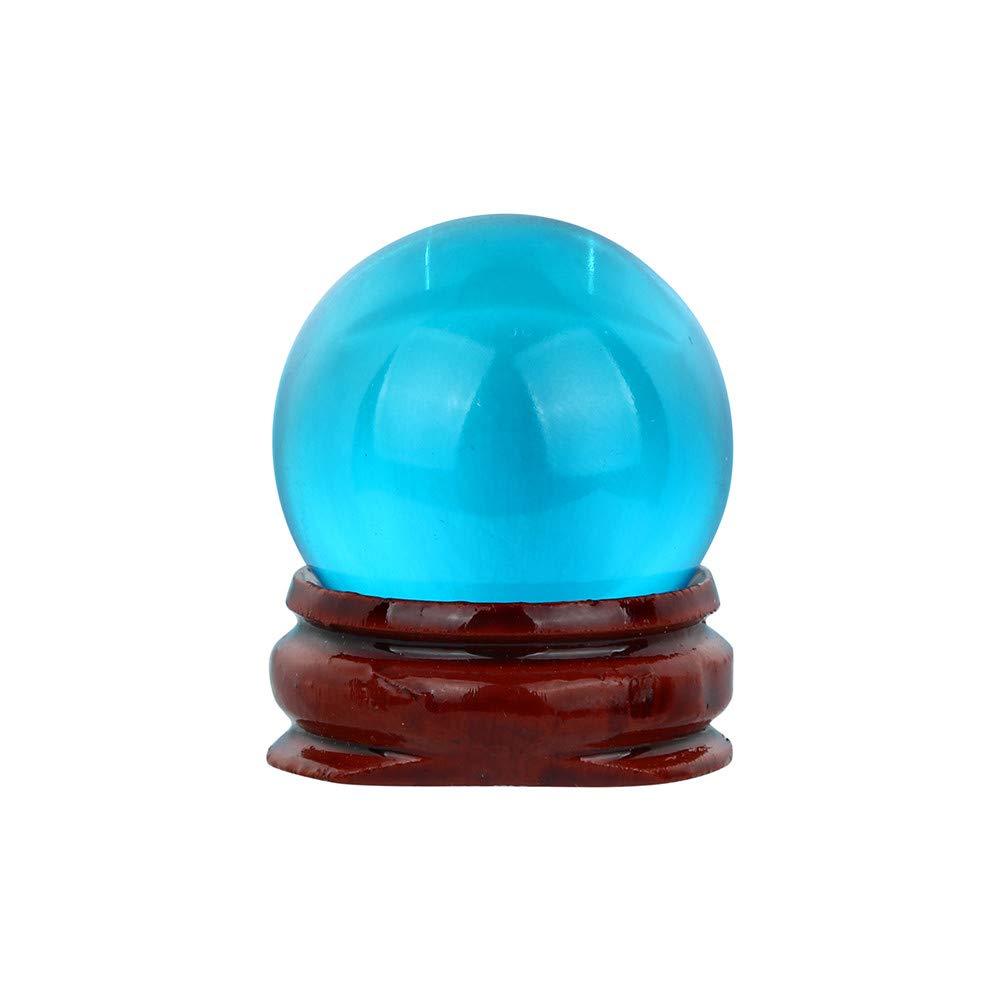 TianranRT Caliente.30/mm Natural Cuarzo Magia Cristal Bola Bola de curaci/ón y Atril