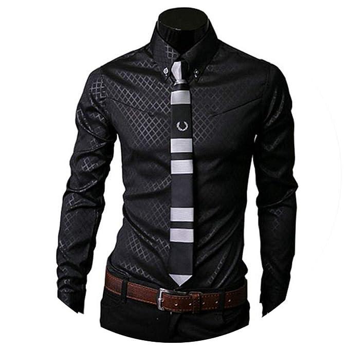 Amazon.com: Camisas a cuadros para hombre, camisas de vestir ...