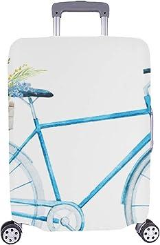 Patrón de Bicicleta Pintado a Mano Maleta Spandex Funda de Viaje ...