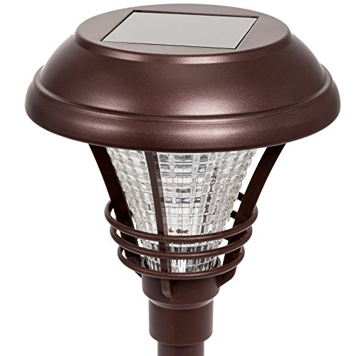 westinghouse brown kenbury solar outdoor garden pathway led stake lights 6 new. Black Bedroom Furniture Sets. Home Design Ideas