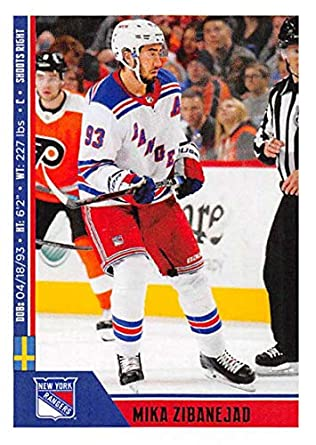 64b71c6e00d 2018-19 Panini NHL Stickers Collection #165 Mika Zibanejad New York Rangers  Official Hockey