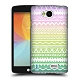 Head Case Designs Hand Drawn Aztec Trend Mix Hard Back Case Cover for LG F60 D390N / D392 Dual SIM