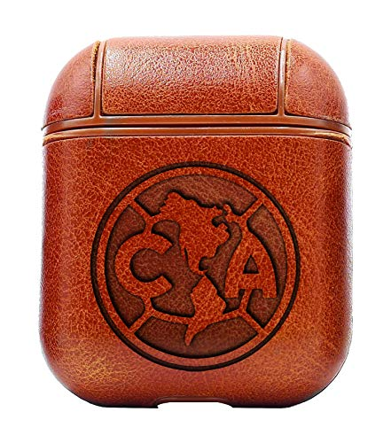 Mexico Club Soccer World Cup Football National Team (Vintage Brown) Air Pods Protective Leather Case Cover - a New Class of Luxury to Your AirPods - Premium PU Leather and Handmade exquisitely (National Cat Club)