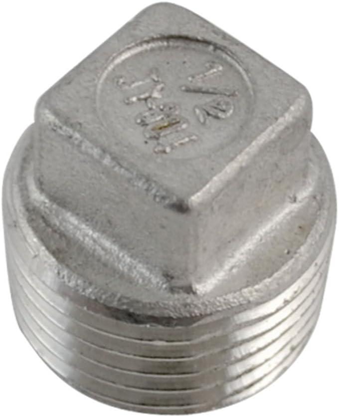 acier inoxydable 304 NPT Raccord filet/é mall/éable Bouchon /à t/ête carr/ée 1NPT m/âle