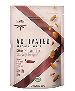 Living Intentions Activated Sprouted Seeds, Gluten Free, Vegan, Organic, Paleo, Smokey Barbeque, 8 Ounce