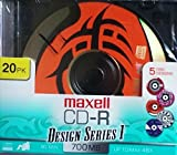 maxell CD-R Design Series 1 700 MB, 20pk