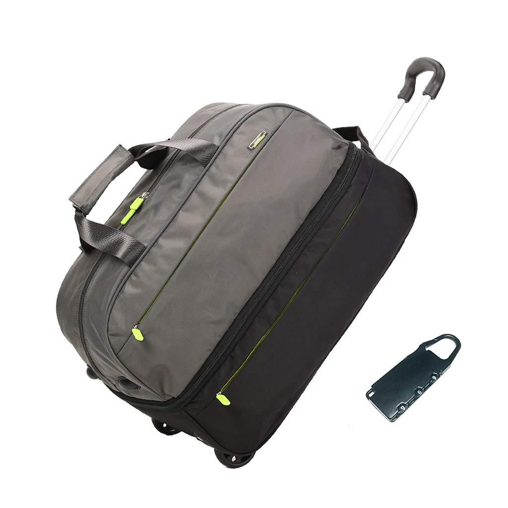 トロリートラベルバッグ、女性用ハンドバッグ近距離大容量荷物バッグ、軽量メンズトラベルバッグ (色 : Gray) B07P41MRK1 Gray