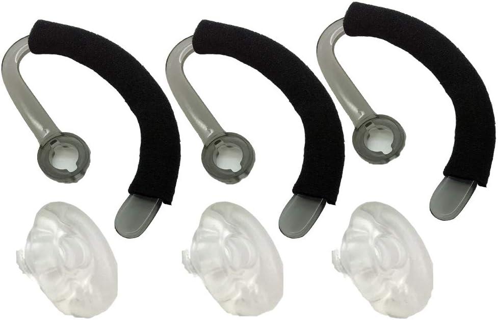 Premium Replacement Earbuds Ear Tips + Ear Hook Loops + Foam Spare + Earpads Fit Kit for Plantronics CS540 Savi W440 W740 W745 WH500 EarLoops EarHook Ear Bud Sleeve Part (Mixed S/M/L)