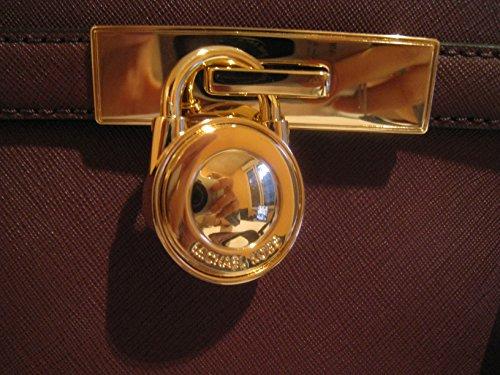 MICHAEL KORS BAG HAMILTON TRAVELER PLUM 28cmx18cmx7cm (ROUGE PLUME)