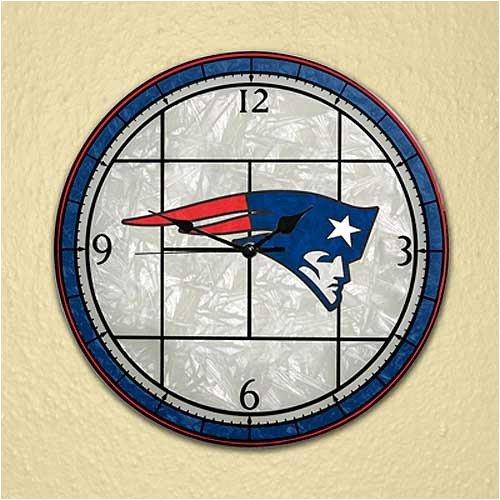 Clock Chrome Nfl - New England Patriots 12in Glass Wall Clock