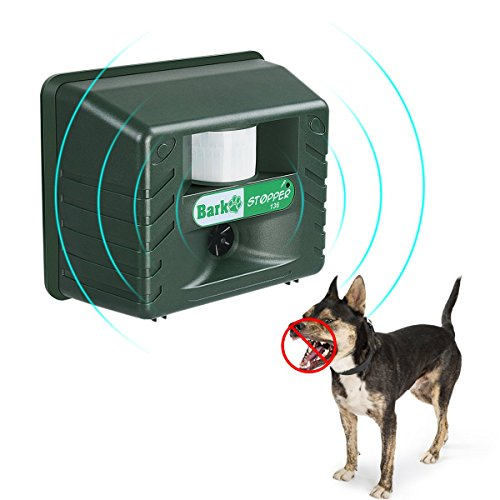Ultrasonic Dog Barking Controller Bark Deterrent Outdoor Animal Repellent With Motion Sensor Garden Yard Animal Deterrent Against Dog Birds Foxes Skunks