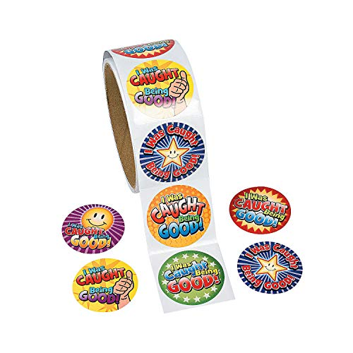 Fun Express - I was Caught Being Good Stickers - Stationery - Stickers - Stickers - Roll - 1 Piece