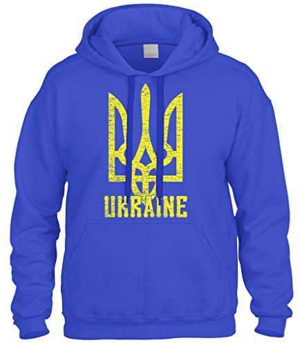Cybertela Ukraine Coat Of Arms Sweatshirt Hoodie Hoody (Royal Blue, Small) (Arms Of Ukraine Coat)