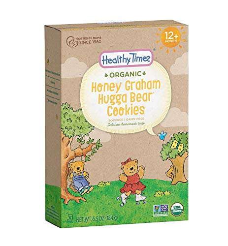 Healthy Times Organic Hugga Bear Cookies for Kids, Honey Graham | For Toddlers, 12 Months and Older | 6.5 Oz. Box, 1 Count