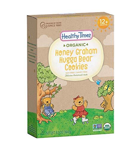 Healthy Times Organic Hugga Bear Honey Graham Cookies, 6.5 Ounce (Packaging May Vary)