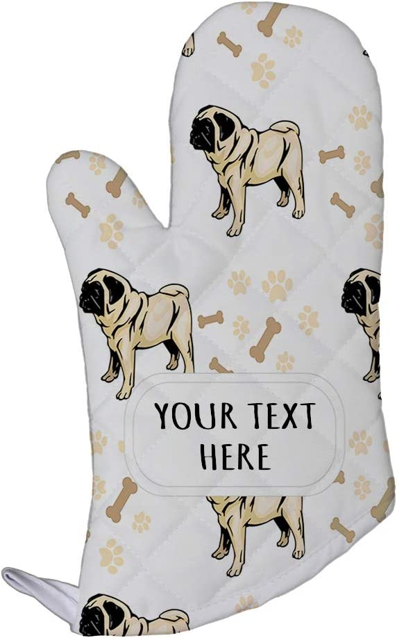 Style In Print Polyester Oven Mitt Custom Pug Dog Breed Pattern A Adults Kitchen Mittens