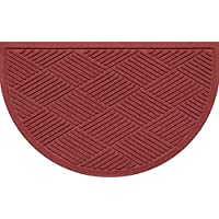 Bungalow Flooring Half Moon Mat Diamonds Dark Red