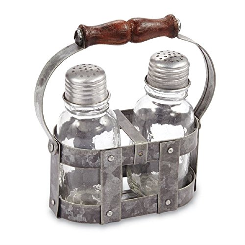 Tin Strapping Salt & Pepper Caddy - Server Pepper