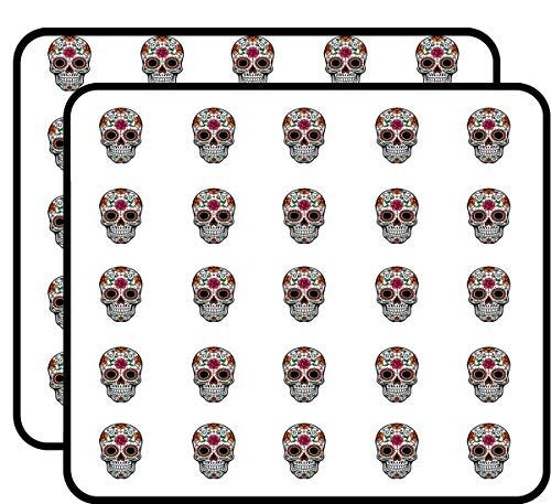 Sugar Skull Dia de Los Muertos Sticker for Scrapbooking, Calendars, Arts, Kids DIY Crafts, Album, Bullet Journals 50 Pack ()