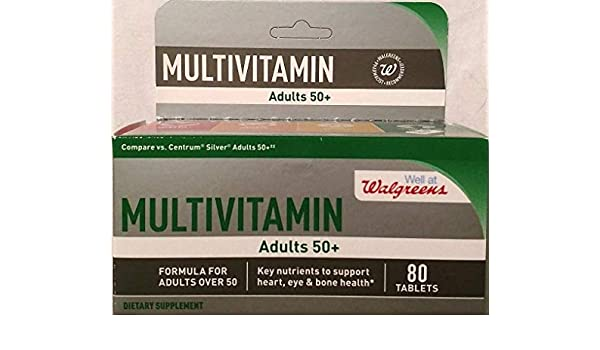 Amazon.com: Walgreens Multivitamin Adults 50+ 80 tablets: Health & Personal Care