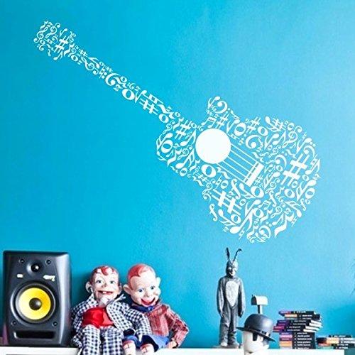cal Decor Musical Notes Vinyl Nursery Bedroom Sticker(Large,White) ()